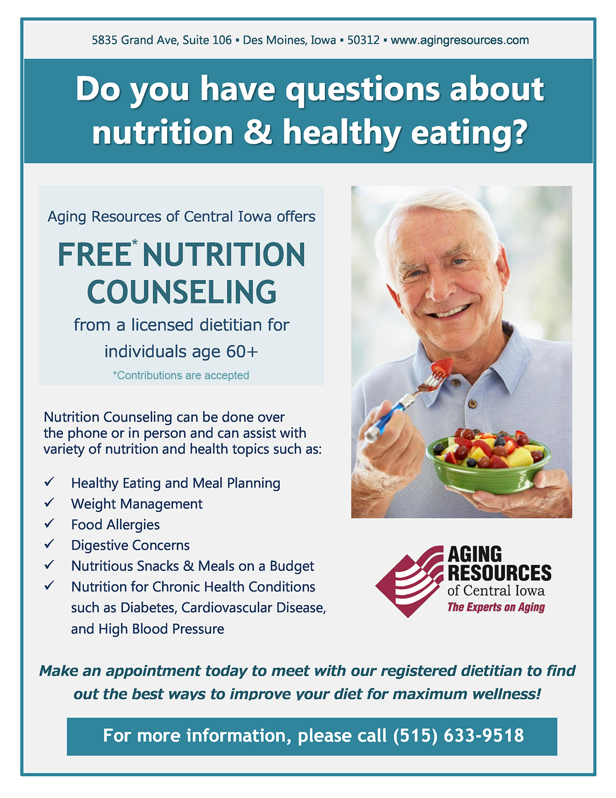 Nutrition Counseling Flyer